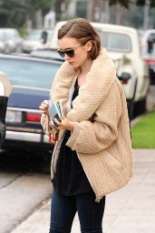 Lily Collins Street Style - Out in LA, January 2015