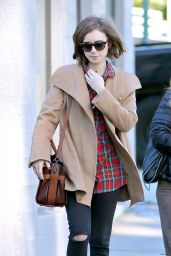 Lily Collins Style - Out & About in Beverly Hills, January 2015