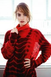 Lily James - Photoshoot for InStyle Magazine (UK) January 2015