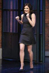 Lucy Hale Appeared on Late Night with Seth Meyers - January 2015