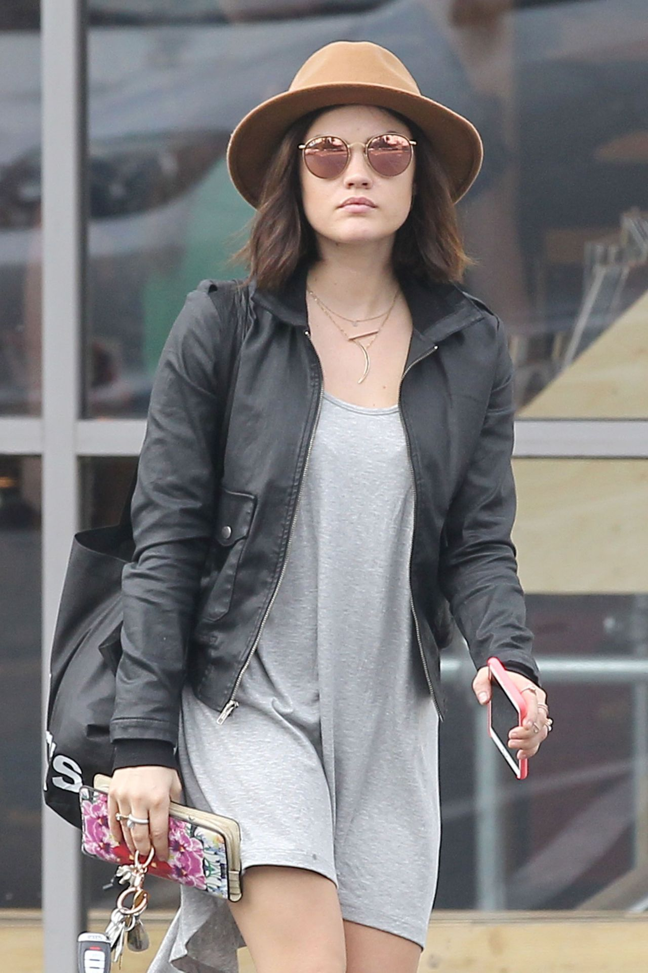 Lucy Hale - Shopping in Los Angeles, January 2015