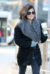 Lucy Hale Street Style - Out in New York City, January 2015
