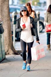 Lucy Hale Street Style - Shopping in West Hollywood, January 2015