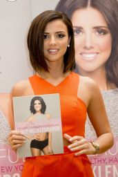 Lucy Mecklenburgh in an Orange Playsuit - January 2015