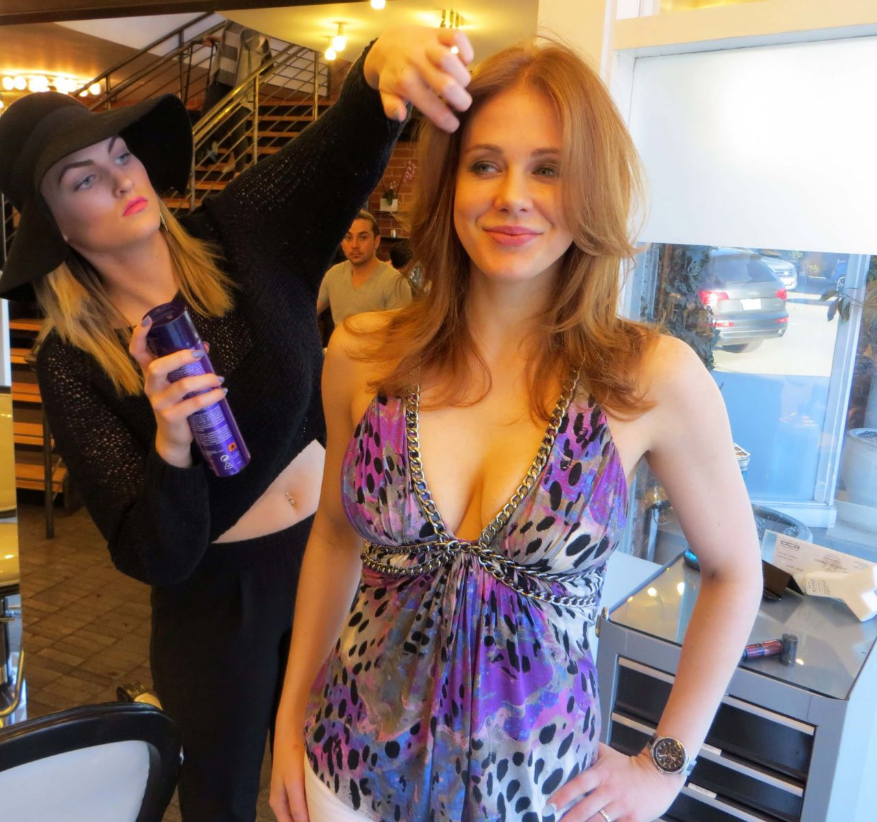 Maitland Ward - Yuka Style Salon and Spa in Beverly Hills, January 2015