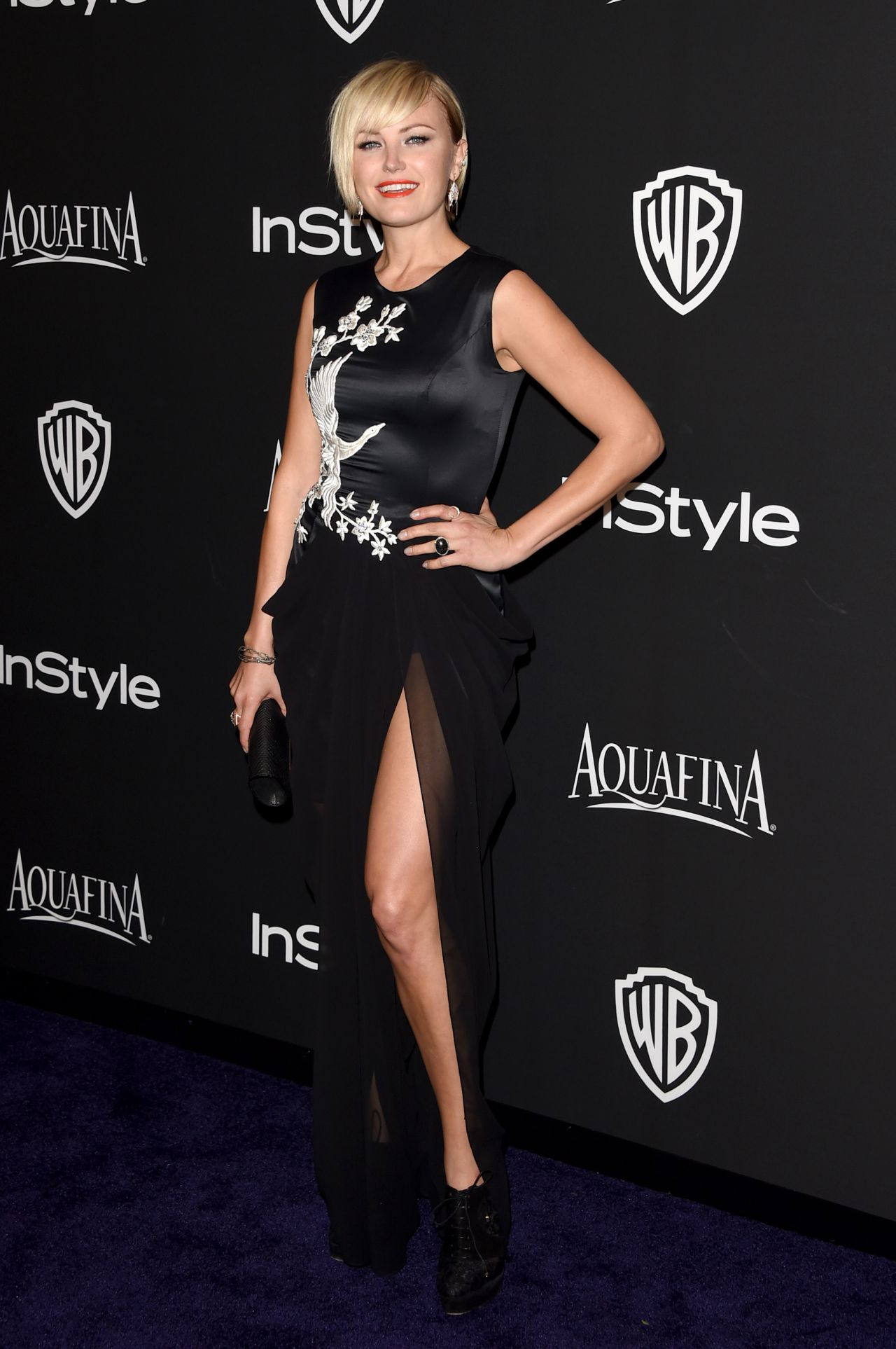 Malin Akerman - InStyle And Warner Bros 2015 Golden Globes Party
