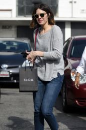 Mandy Moore - Leaves Meche Salon in Los Angeles, January 2015