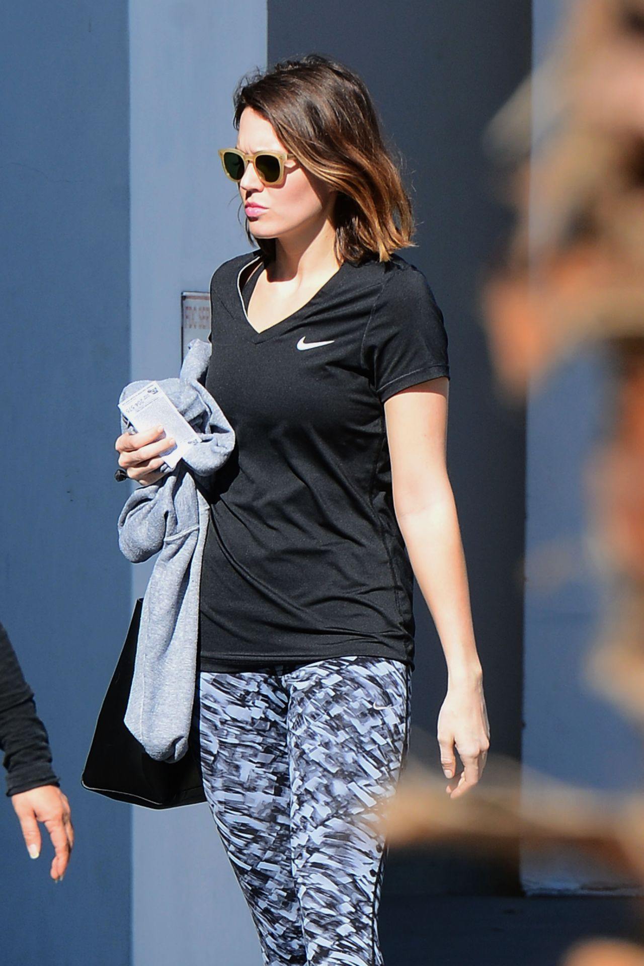 Mandy Moore Street Style - Leaves The Gym in Los Angeles, January 2015