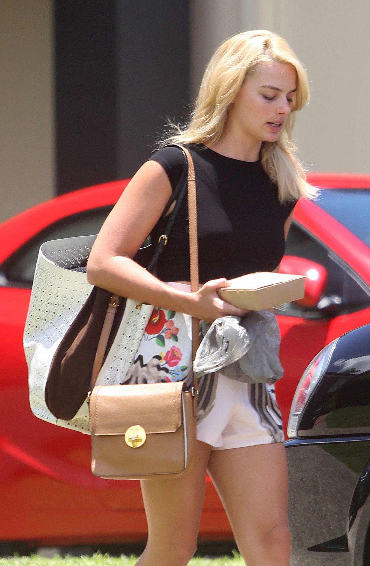 Margot Robbie In Shorts Leaving The Gym In Australia