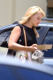 Margot Robbie in Shorts - Leaving the Gym in Australia - January 2015