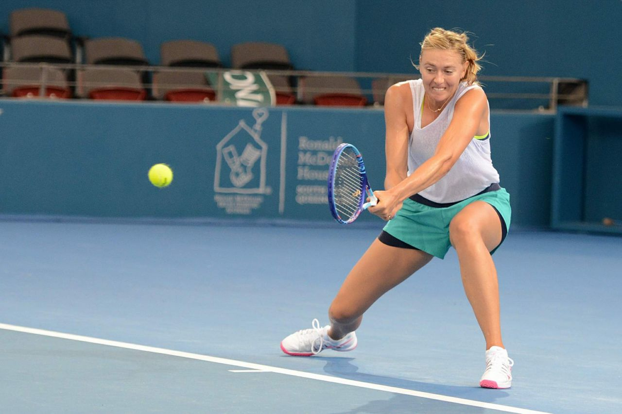 Maria Sharapova - Brisbane International 2015 Training Session
