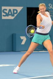 Maria Sharapova - Brisbane International 2015 Training Session