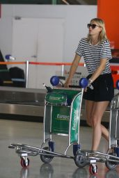 Maria Sharapova Leggy in Mini Skirt - Arrives at Melbourne Airport - January 2015