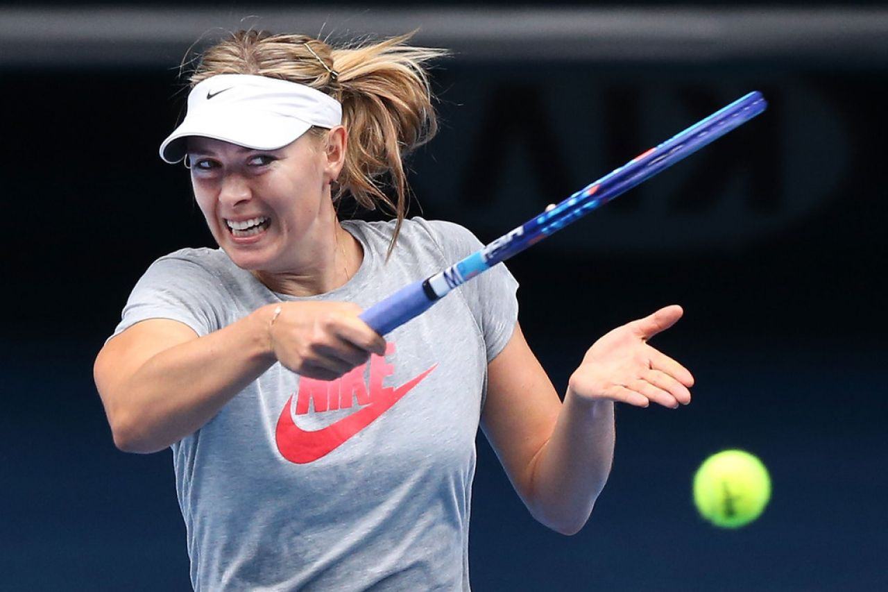 Maria Sharapova - Practice Session in Melbourne, January 2015