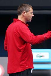 Maria Sharapova - Practice Session in Melbourne, January 2015