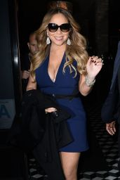 Mariah Carey Style - Has Dinner at Craigs Restaurant, Jan. 2015