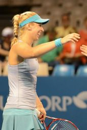 Martina Hingis and Sabine Lisicki - Brisbane International 2015 Training Session