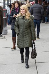 Melissa Rauch Street Style - Out in Park City - January 2015