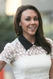 Michelle Heaton - Leaving the ITV studios in London - January 2015