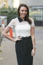 Michelle Heaton - Leaving the ITV studios in London - January 2015