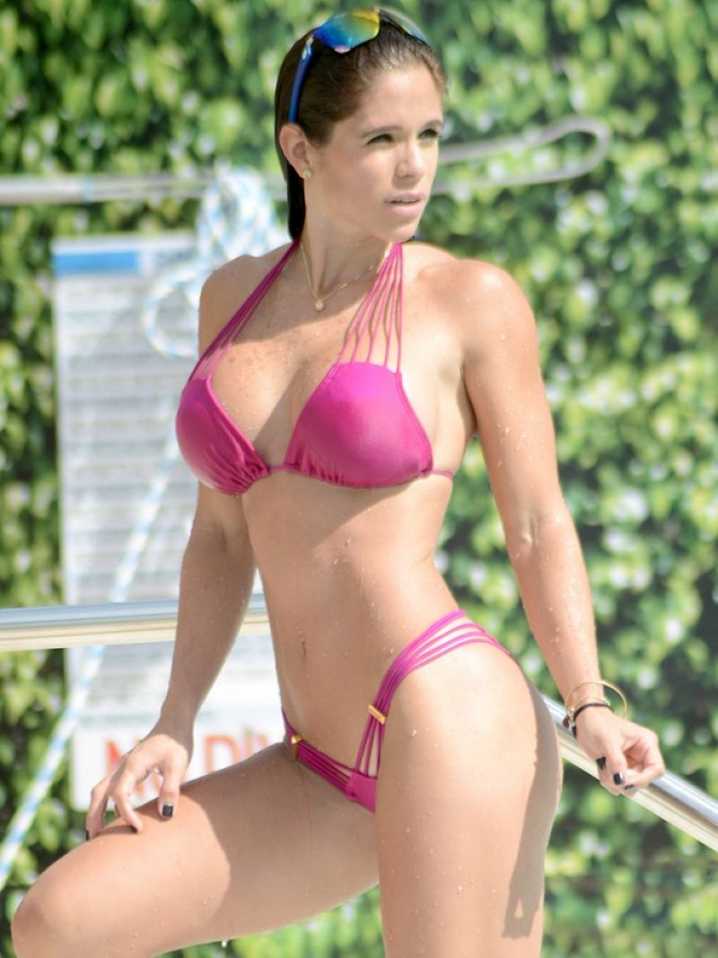 Michelle Lewin - New Year With A Bikini Workout In Miami - January 2015