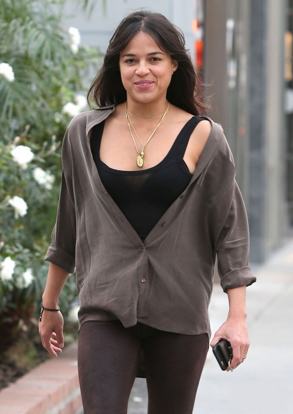 Michelle Rodriguez Casual Style - Out in Beverly Hills, January 2015