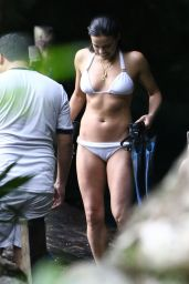 Michelle Rodriguez in White Bikini - in Mexico, Dec. 2014