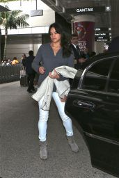 Michelle Rodriguez Street Style - at LAX Airport, January 2015