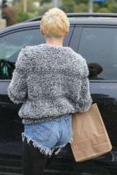 Miley Cyrus Street Style - Leaves Earth Bar in West Hollywood, Jan. 2015