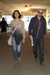 Morena Baccarin at LAX Airport, January 2015