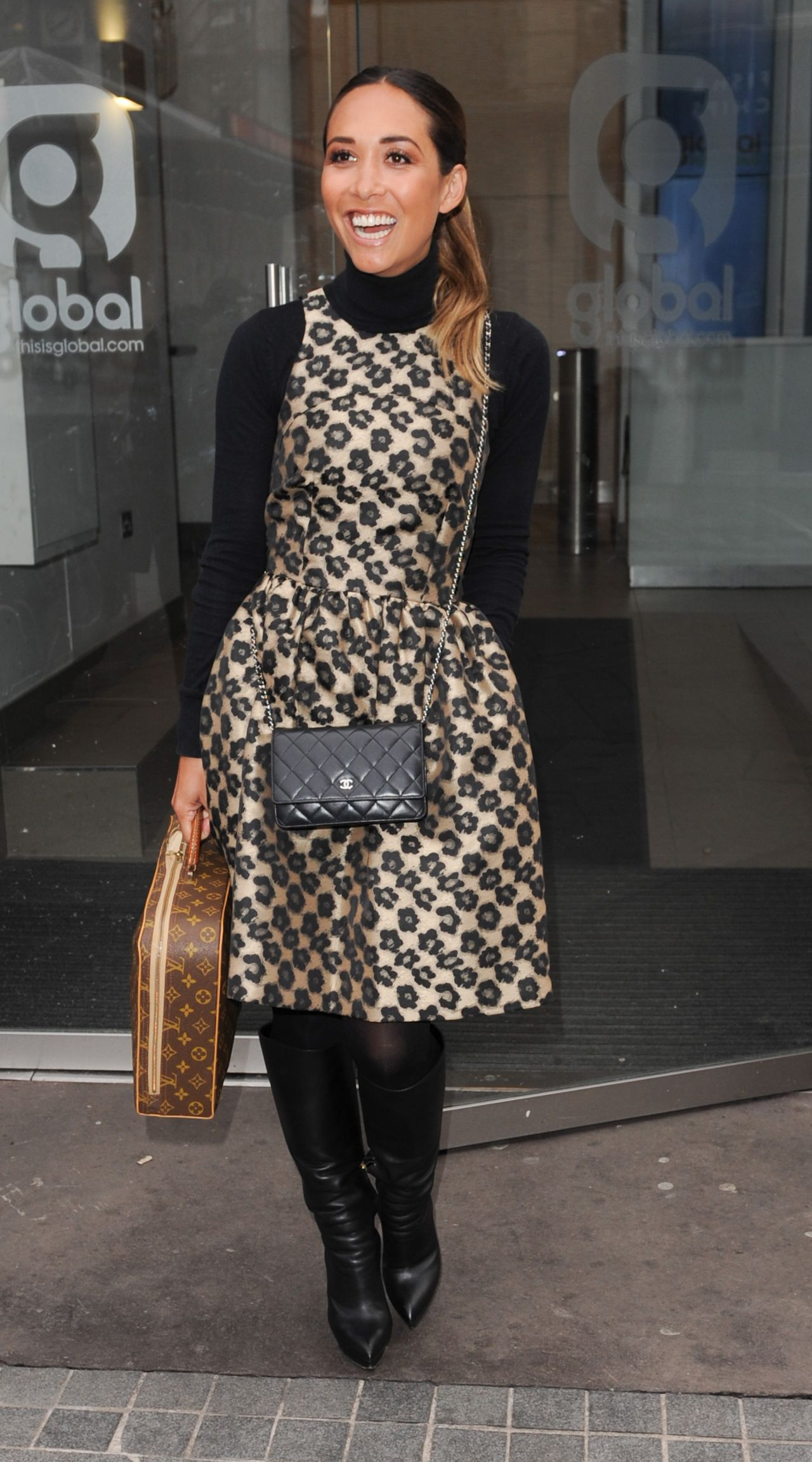 Myleene Klass Style At Capital Radio Studios In London