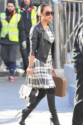 Myleene Klass Style - Heading to Capital Radio Studios in London - January 2015