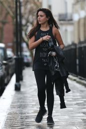 Nadia Forde Street Style - Leaving a Gym in London, January 2015
