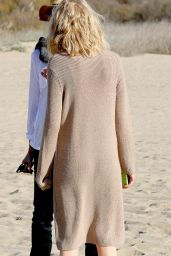 Naomi Watts - Filming A Commercial On Beach In Malibu California - January 2015