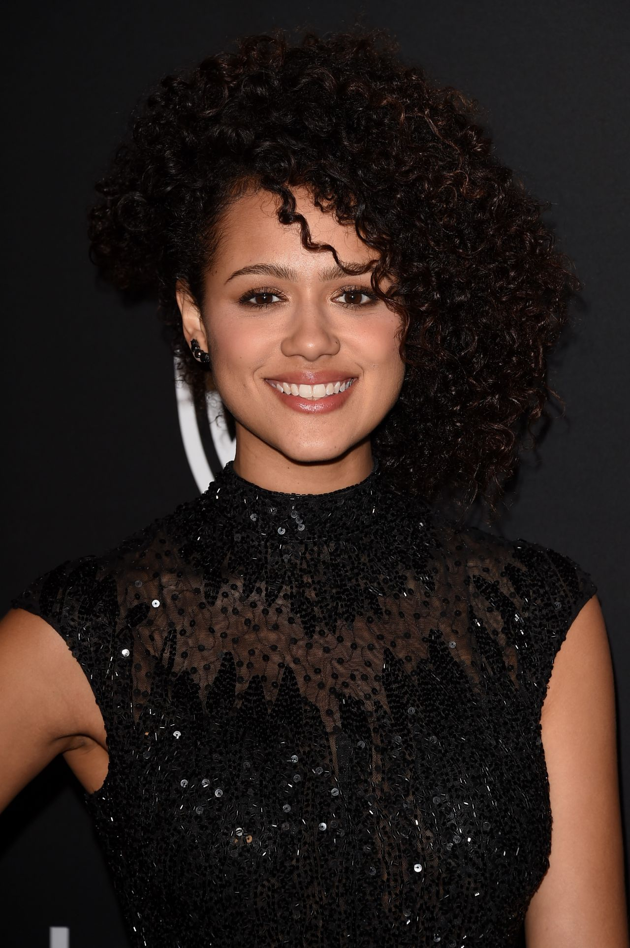 Nathalie Emmanuel – InStyle And Warner Bros 2015 Golden Globes Party