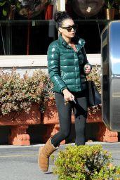 Naya Rivera Booty in Leggings - Grocery Shopping at Gelson