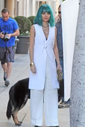 Nicole Richie - Doing a Photoshoot in Beverly Hills, January 2015