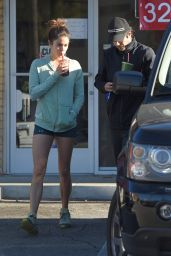 Nikki Reed Leggy - Leaving a Cafe in Los Angeles, Jan. 2015