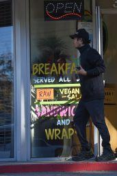 Nikki Reed Leggy - Leaving a Cafe in Los Angeles, Jan. 2015