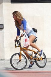 Nina Agdal - Rides Her Bike in Miami, January 2015