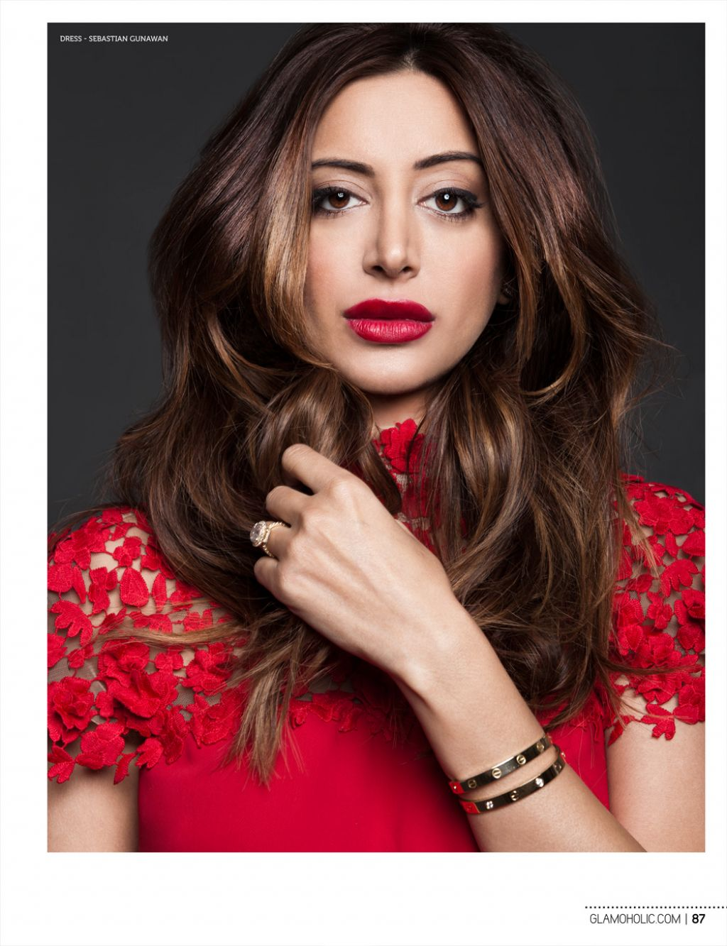 Noureen DeWulf - Glamoholic Magazine January 2015 Issue