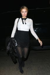 Paris Hilton Night Out Style - at Chateau Marmont in Hollywood - January 2015