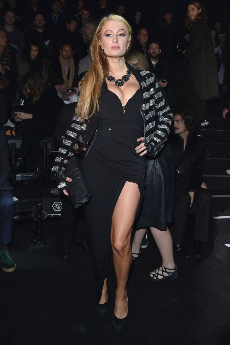 Paris Hilton Style Philipp Plein Fashion Show In Milan