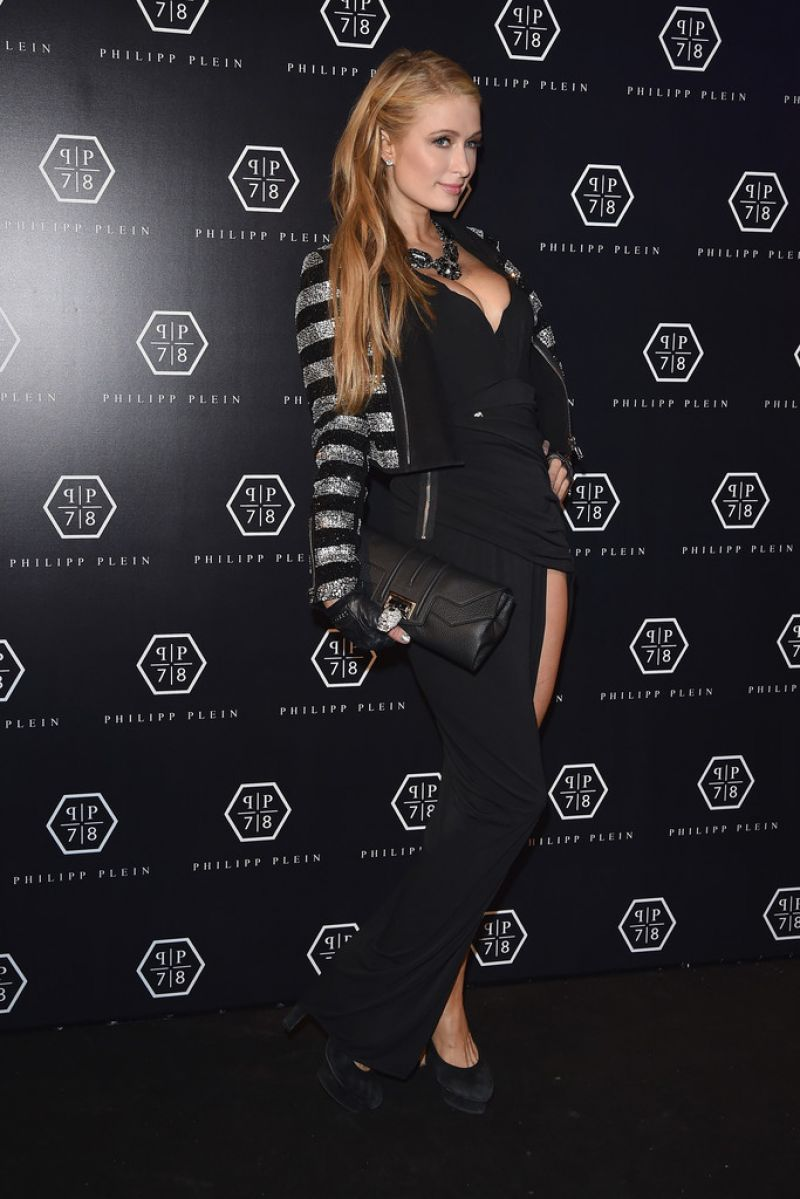 Paris Hilton Style Philipp Plein Fashion Show In Milan