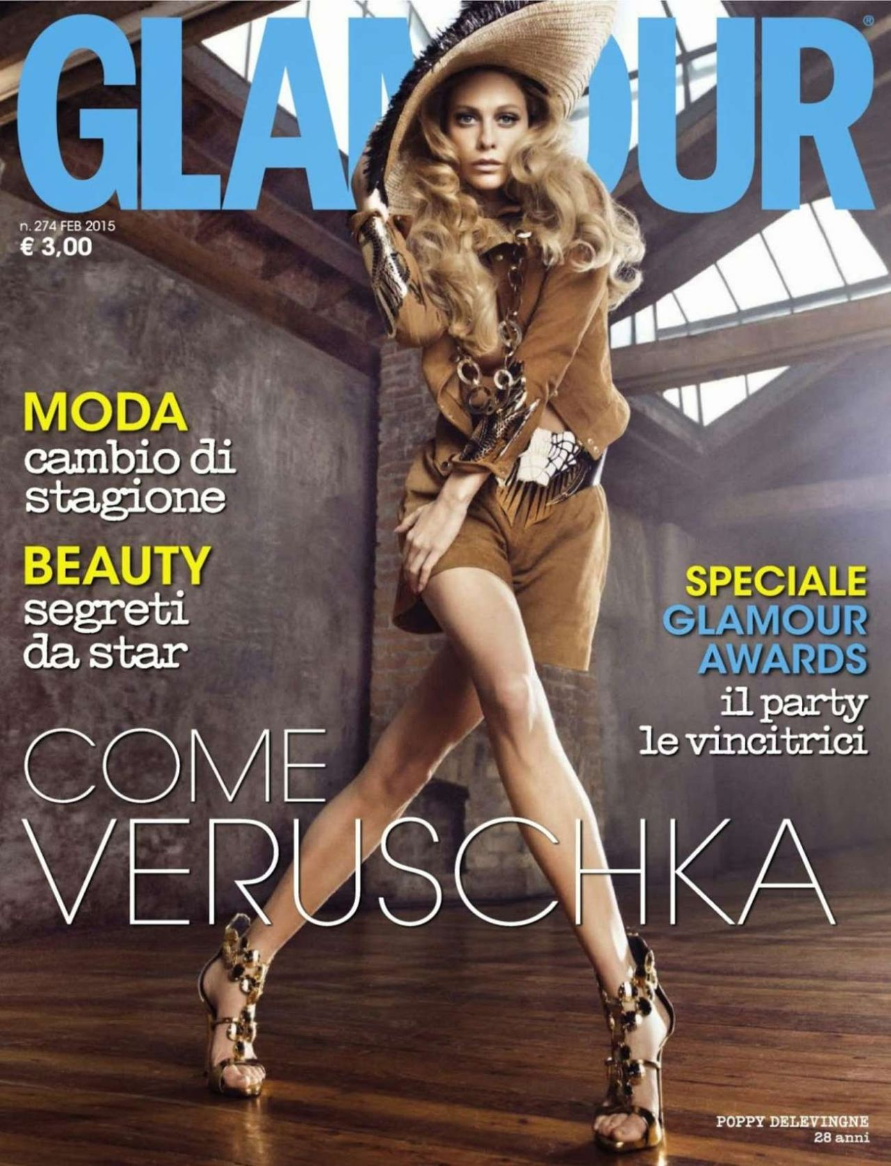 Poppy Delevingne – Glamour Magazine (Italy) February 2015 Issue