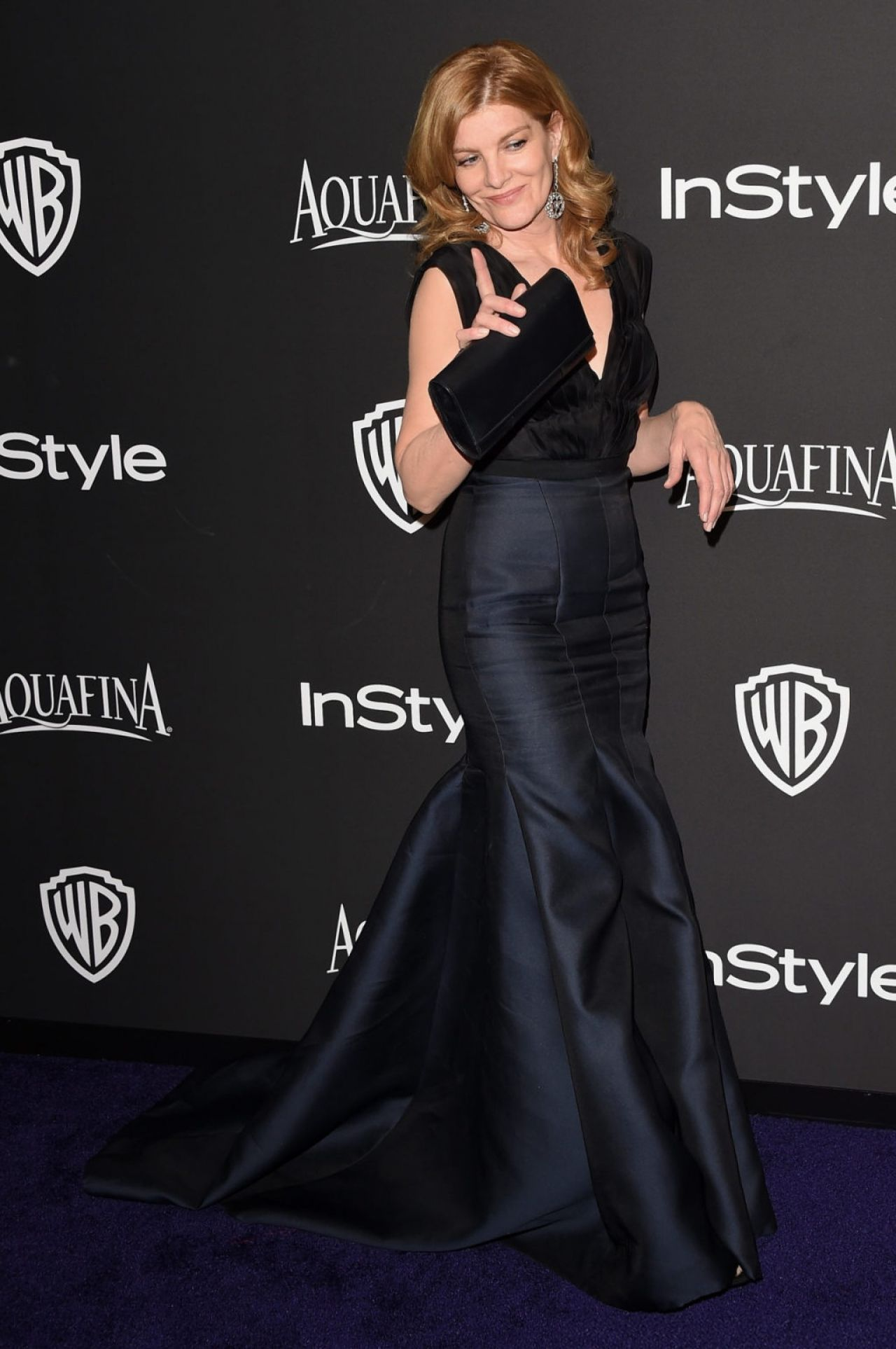 Rene Russo - InStyle And Warner Bros 2015 Golden Globes Party