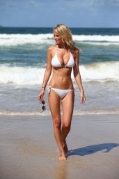 Rhian Sugden Bikini Photos - on Belongil Beach in New South Wales, Australia - January 2015