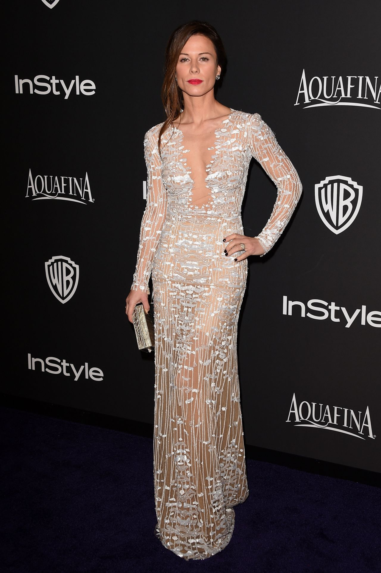Rhona Mitra – InStyle And Warner Bros. 2015 Golden Globe Awards Post-Party