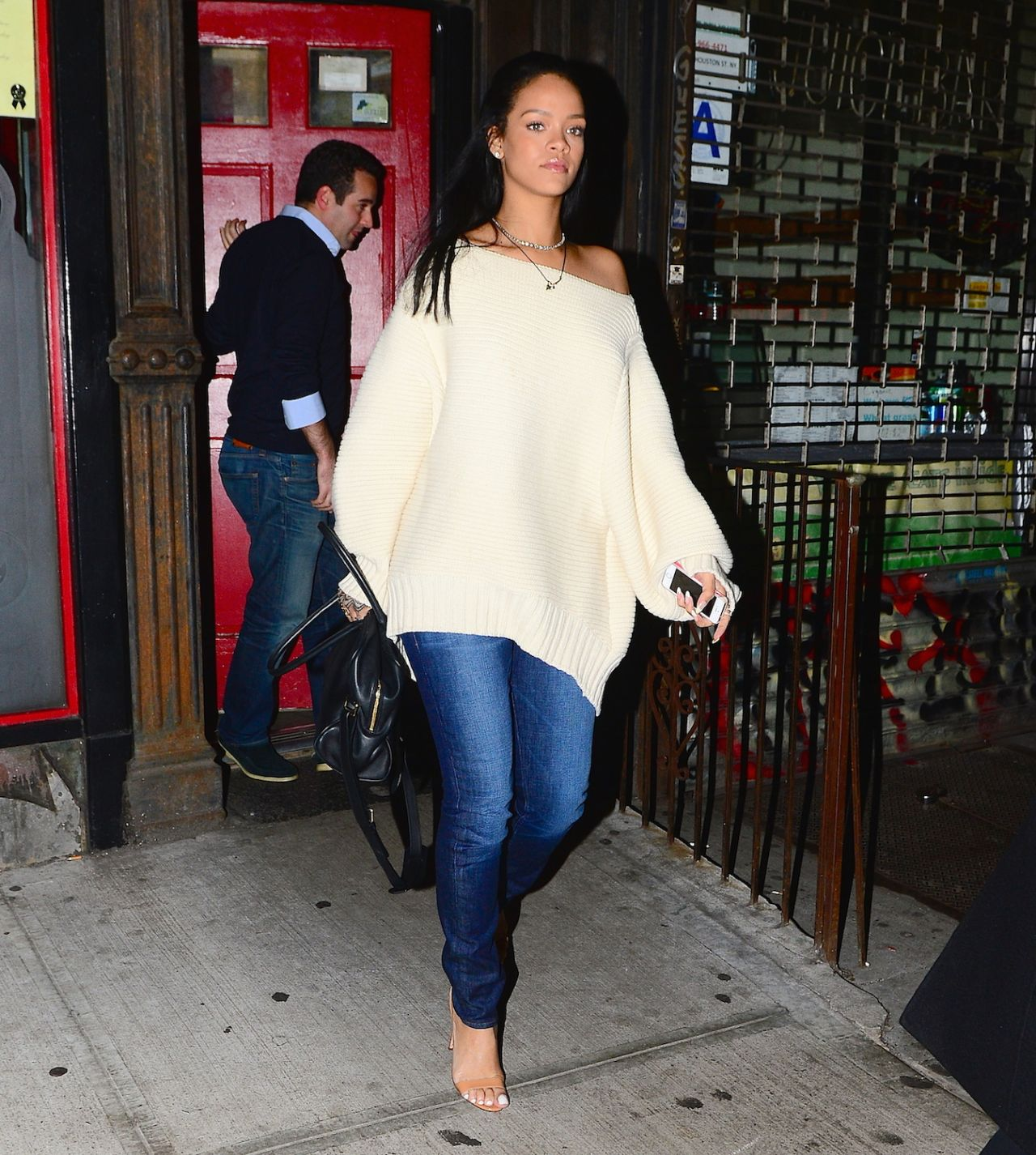 rihanna casual style out in new york city january 2015