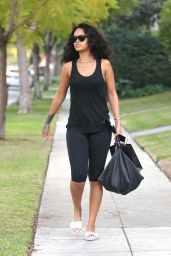 Rihanna in Leggings - Out in Beverly Hills, January 2015